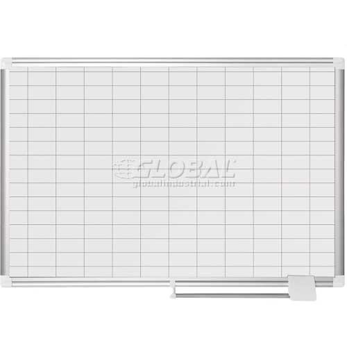 "Magnetic Planning Board 1x2 Grid 36""W x 24""H Porcelain Surface by"