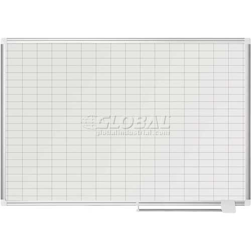 "Magnetic Planning Board 1x2 Grid 48""W x 36""H Porcelain Surface by"