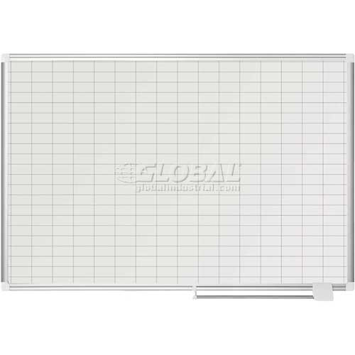 "Magnetic Planning Board 1x2 Grid 48""W x 36""H Steel Surface by"