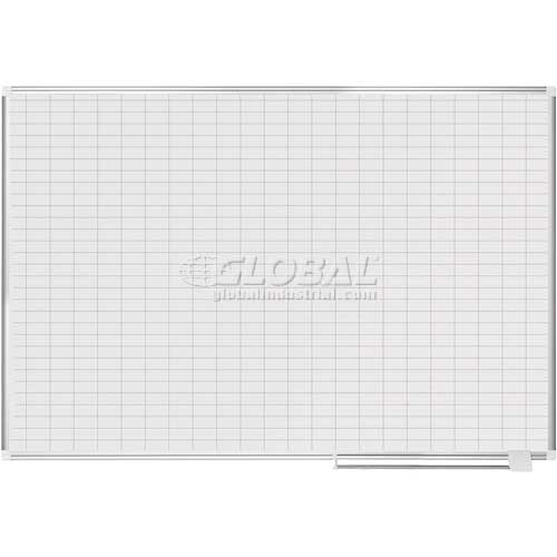"Magnetic Planning Board 1x2 Grid 72""W x 48""H Steel Surface by"