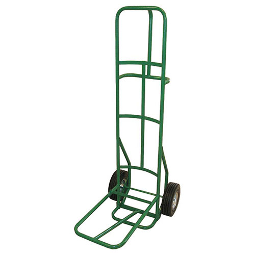 """Fairbanks Dolly for Stacking Chairs 10"""" Semi Pneumatic Wheels Green 12 Chair Capacity by"""