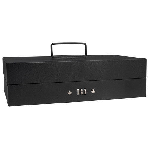 "Barska Cash Box With Tray With Combination Lock CB11794 11-3/8"" x 7-5/8"" x 3-3/8"" Black by"