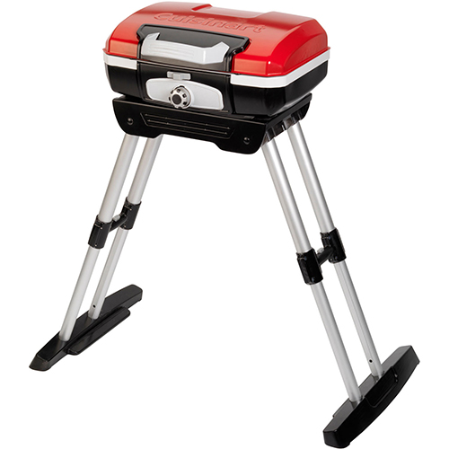 Cuisinart Petit Gourmet Portable Outdoor LP Gas Grill w/ Versa Stand by