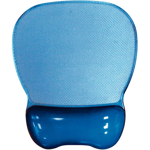 Aidata CGL003B Crystal Gel Mouse Pad with Wrist Rest, Blue by