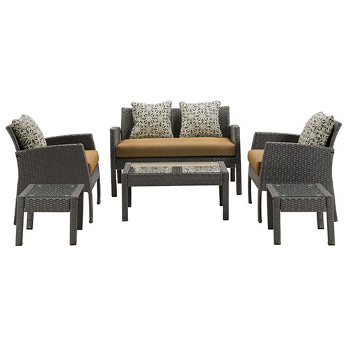Click here to buy Hanover Chelsea 6-Piece Patio Set, Country Cork.