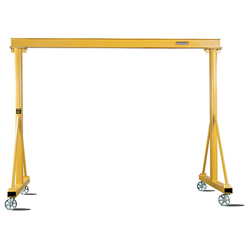 Contrx Portable Fixed Height Gantry Crane, 4000 Lb. Capacity, 12' Span, 10' Under Beam Height by