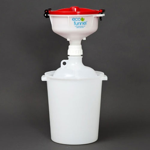"Click here to buy ECO Funnel EF-3008C-SYS 8"" ECO Funnel System, 8L Carboy & Secondary Container, Red Lid."