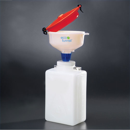 "Click here to buy ECO Funnel EF-3009-SYS 8"" ECO Funnel System, 9L Rectangular Carboy, Red Lid."