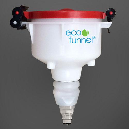 "ECO Funnel EF-4-38-006N 4"" ECO Funnel with Polypropylene Quick Disconnect Adapter, Red Lid by"