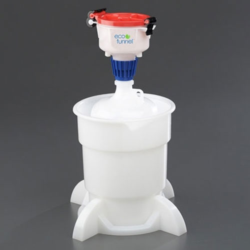 """Click here to buy ECO Funnel EF-4-38-SYS 4"""" ECO Funnel System, 4L Container & Secondary Container, Red Lid."""