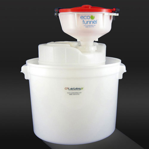"""Click here to buy ECO Funnel EF-8-FS70C-SYS 8"""" ECO Funnel System, 5 Gal Drum & Secondary Container, Red Lid."""
