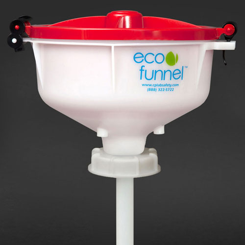 """ECO Funnel EF-8-SW 8"""" ECO Funnel with 70mm Cap, For 5 Gal Samson Stacker Carboy, Red Lid by"""