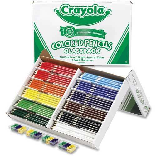 Crayola Colored Pencils Classpack, 12 Assorted Colors, 240/Box by