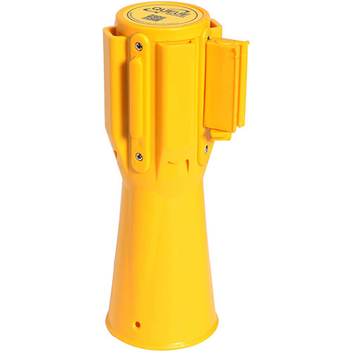 ConePro 500 Yellow Traffic Cone Mount Retracting Belt Barrier, 10' Authorized Access Only Belt by