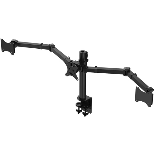 "Buy Fleximounts Triple Arm Desk Mount Stand Fits 10""-27"" LCD Computer Monitors"