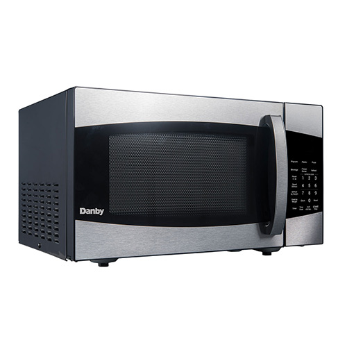 Click here to buy Danby DMW099BLSDD Microwave Oven, 0.9 Cu. Ft., Black/Stainless Steel, Touchpad Controls, 900 Watts.