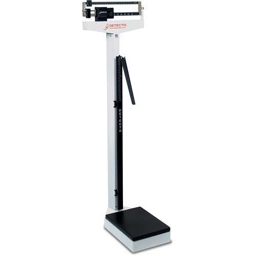 Detecto 439 Eye Level Beam Physician Scale 400lb x 4oz W/ Height Rod by