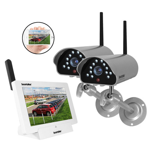 Buy Outdoor/Indoor Digital Wireless iSecurity Camera System with 8GB, 2 Cameras DIGILCDNDVR2