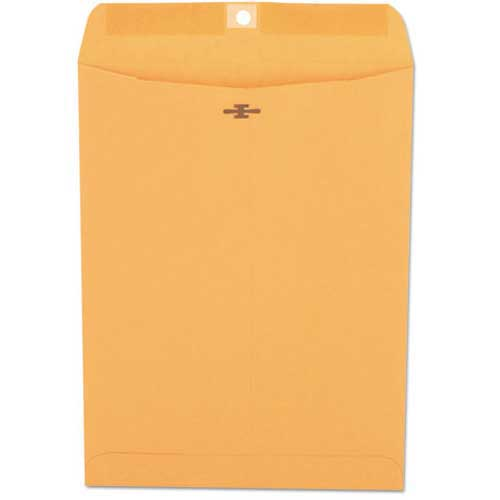 Brown Kraft Clasp Envelopes, 28-lb., 10 x 13, 100/Box by
