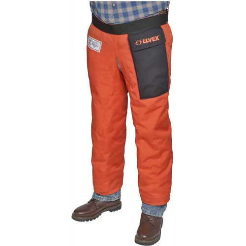 "Elvex ProChapsZ JE-9136Z, Wraparound Chainsaw Chaps, Orange, 36""L by"