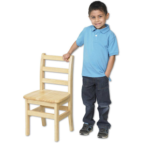 """ECR4Kids 12"""" Three Rung Ladderback Chair Assembled Package Count 2 by"""