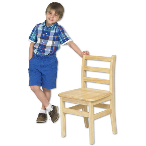 "ECR4Kids 14"" Three Rung Ladderback Chair Assembled Package Count 2 by"