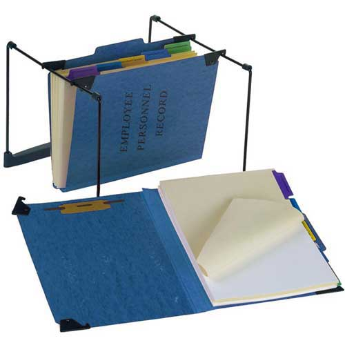 """Esselte Hanging Employee/Personnel Folder, 9-1/2"""" x 11-3/4"""", 2"""" Expansion, Blue by"""