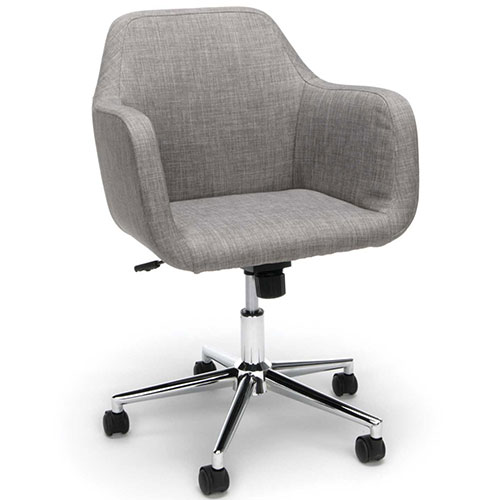 Essentials by OFM ESS-2085 Upholstered Home Office Desk Chair, Grey by