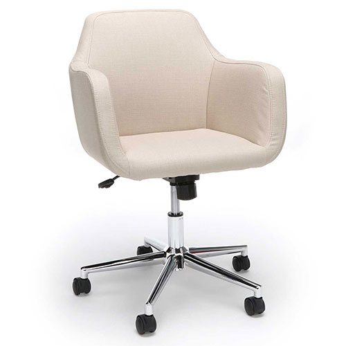 Essentials by OFM ESS-2085 Upholstered Home Office Desk Chair, Tan by