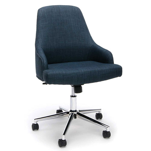 Essentials by OFM ESS-2086 Upholstered Home Desk Chair, Blue by