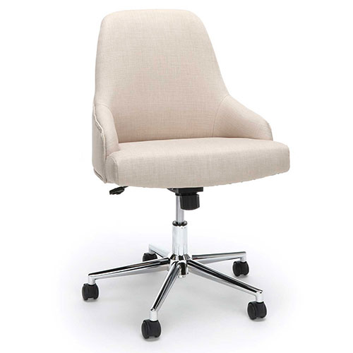 Essentials by OFM ESS-2086 Upholstered Home Desk Chair, Tan by
