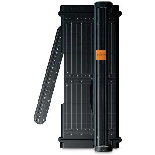 "Fiskars SureCut Paper Trimmer, 12"" Cutting Length, Black by"