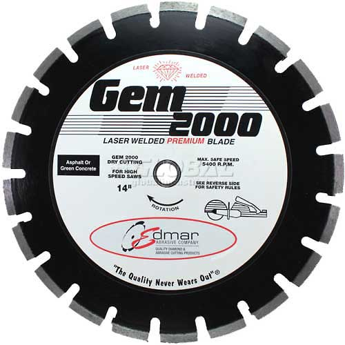"Edmar 12"" Premium High Speed Saw Blade for Asphalt by"