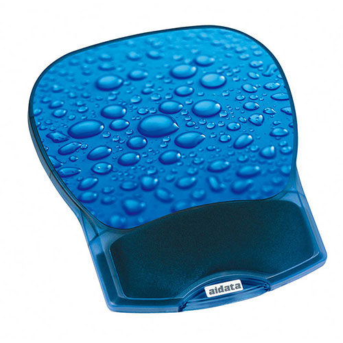 Aidata GL012D Deluxe Gel Mouse Pad, Blue Water Drop by