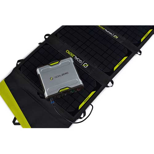 Goal Zero Sherpa 100 Solar Recharging Kit with Nomad 20 and 110V Inverter, 42011 by