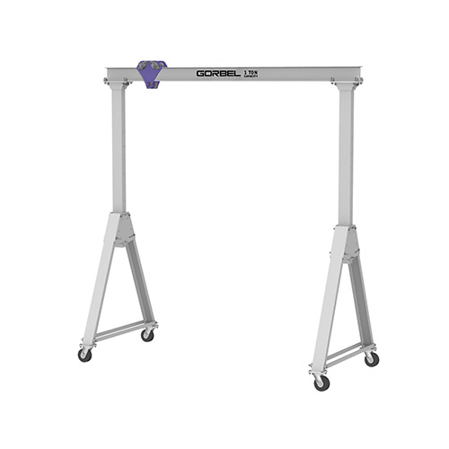 Gorbel Aluminum Gantry Crane, 8' Span & 6'-9' Adjustable Height, 1000 Lb. Capacity by