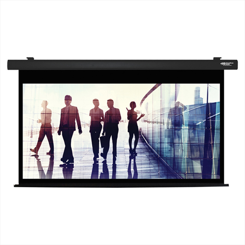 "Click here to buy HamiltonBuhl Electric Projector Screen 92"" Diagonal HDTV Format Black Frame."