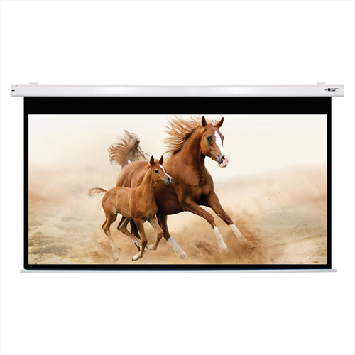 "Buy HamiltonBuhl Electric Projector Screen 120"" Diagonal HDTV Format White Frame"