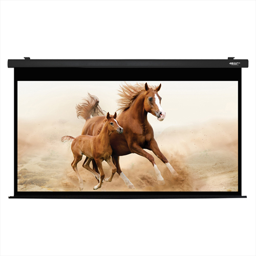 """Click here to buy HamiltonBuhl Electric Projector Screen 120"""" Diagonal HDTV Format Black Frame."""