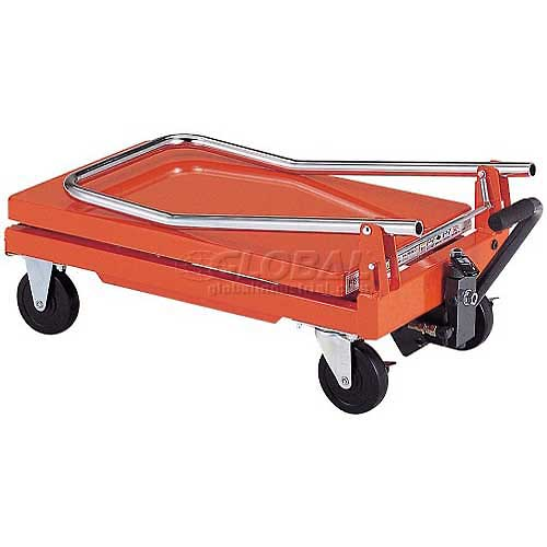 "HAMACO Standard Work Cart with Scissor Lift HLH-100 22.4""L x 13.8""W Table 220 Lb. Capacity by"