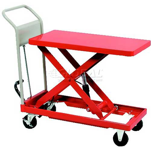 "HAMACO Standard Work Cart with Scissor Lift HLH-120 28.3""L x 15.7""W Table 264 Lb. Capacity by"
