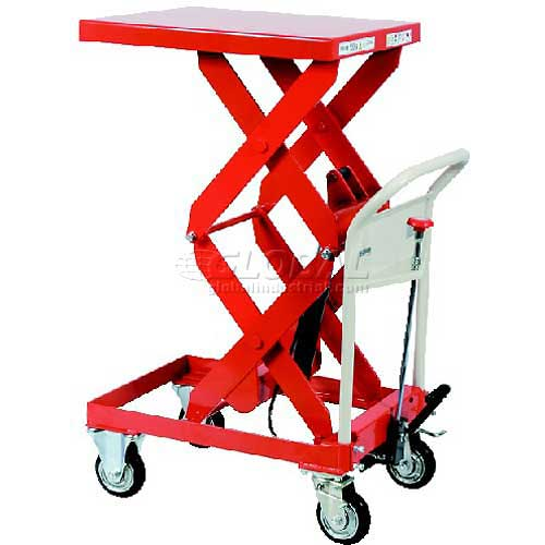 "HAMACO Standard Work Cart with Scissor Lift HLH-150W 31.5""L x 19.7""W Table 330 Lb. Capacity by"