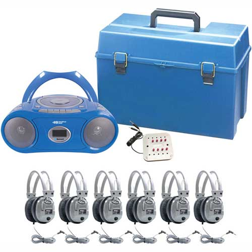 Click here to buy HamiltonBuhl 6 Person Listening Center w/ Bluetooth Boombox & Deluxe Headphones.