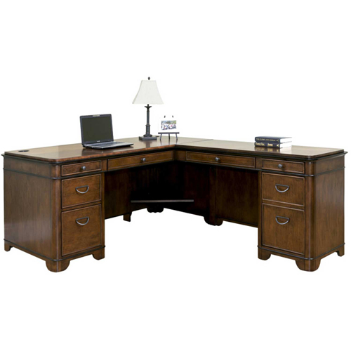 Martin Furniture L-Shaped Right Handed Computer Desk Kensington Series by