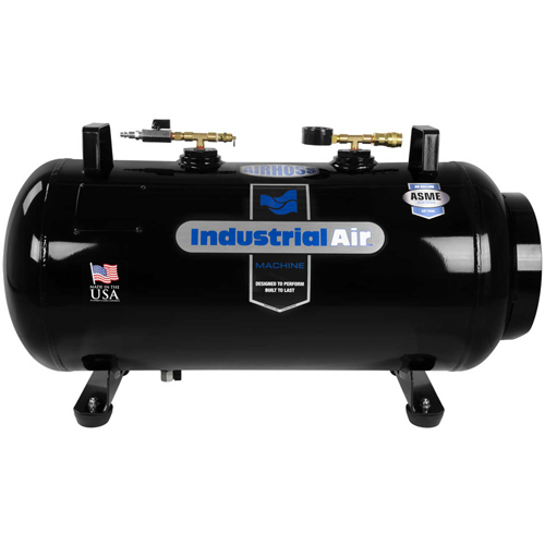 Click here to buy Industrial Air IT20ASME, Portable Receiver Tank, 20 Gal., 175 PSI, Vertical/Horizontal Configuration.