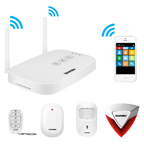 Buy SecurityMan Mobile App Based Wireless Deluxe Kit Security Alarm System, IWATCHALARMD