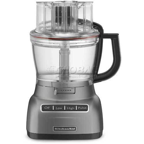KitchenAid 13 Cup Food Processor W/ ExactSlice System Contour Silver KFP1333CU by