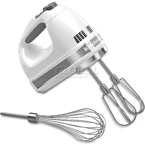 KitchenAid 7 Speed Digital Hand Mixer, Turbo Beater II Pro Whisk, White, KHM7210WH by