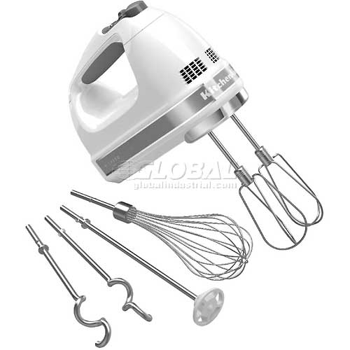 KitchenAid 9-Speed Digital Hand Mixer, Turbo Beater II Acc. White, KHM926WH by