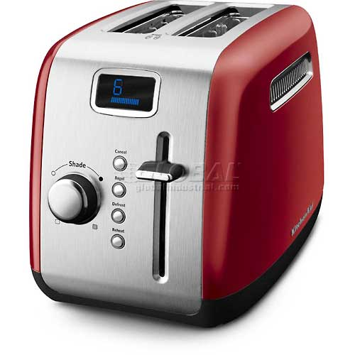 KitchenAid 2 Slice Toaster, Manual Lift- Empire Red KMT222ER by